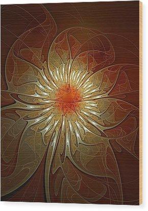 Vibrance Wood Print by Amanda Moore
