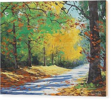 Vibrant Autumn Wood Print by Graham Gercken