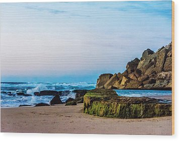 Wood Print featuring the photograph Vibrant Seascape At Twilight by Marion McCristall