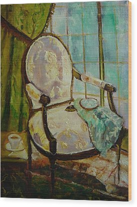 Vibrant Still Life Paintings - Afternoon Repose - Virgilla Art Wood Print by Virgilla Lammons