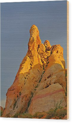 Vibrant Valley Of Fire Wood Print by Christine Till