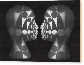 Vibrating Forms Wood Print by Jeff  Gettis