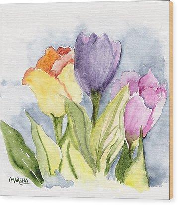 Vickis Tulip Wood Print
