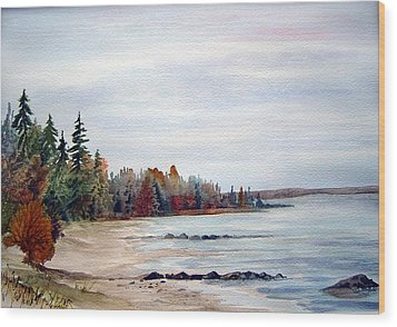 Victoria Beach In Manitoba Wood Print by Joanne Smoley