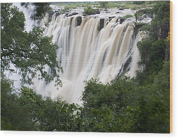 Victoria Falls Waterfall Framed Wood Print by Roy Toft