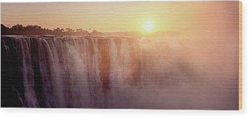 Victoria Falls, Zimbabwe Wood Print by Ben Cranke