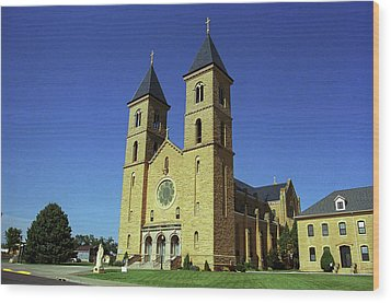 Wood Print featuring the photograph Victoria, Kansas - Cathedral Of The Plains 6 by Frank Romeo