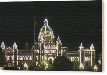 Victoria Legislative Buildings Wood Print