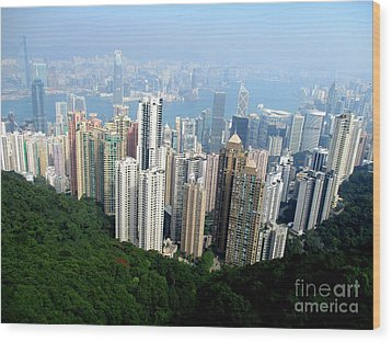 Wood Print featuring the photograph Victoria Peak 1 by Randall Weidner