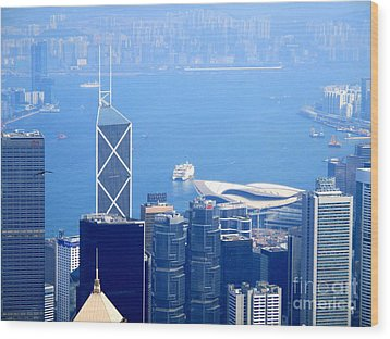 Wood Print featuring the photograph Victoria Peak 2 by Randall Weidner