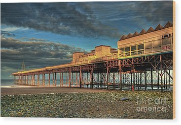 Wood Print featuring the photograph Victoria Pier 1899 by Adrian Evans