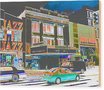 Victoria Theater 125th St Nyc Wood Print by Steven Huszar