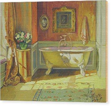Victorian Bath Wood Print by Jonel Scholtz
