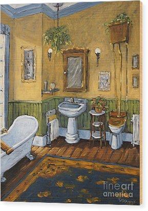 Victorian Bathroom By Prankearts Wood Print by Richard T Pranke