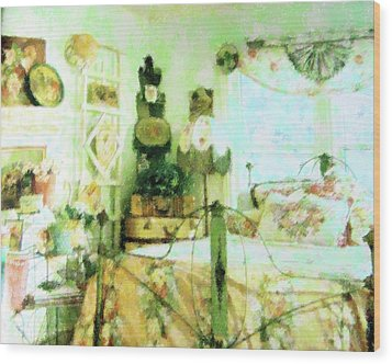 Victorian Bedroom Wood Print by Florene Welebny
