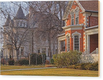 Victorian Era Houses Wood Print by Utah Images