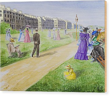 Victorian Filey Wood Print by Svetlana Sewell