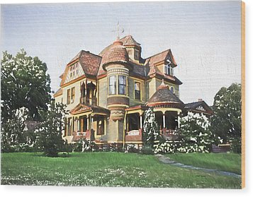 Victorian House Wood Print by Ericamaxine Price