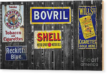 Victorian Signs Wood Print by Adrian Evans
