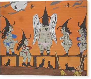 Victoria's Secret Witches Wood Print by Jeffrey Koss