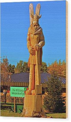 Wood Print featuring the photograph Vidar The Viking by Randy Rosenberger