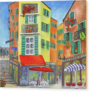 Vieille Ville - Nice Wood Print by Ronald Haber