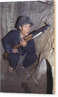 Vietnam War, A Viet Cong, Soldier Wood Print by Everett