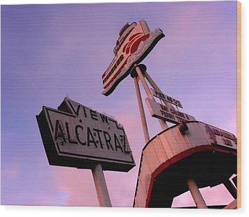 View Alcatraz Wood Print by Elizabeth Hoskinson