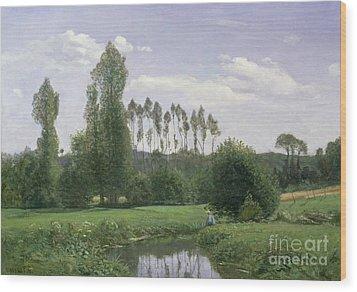 View At Rouelles Wood Print by Claude Monet