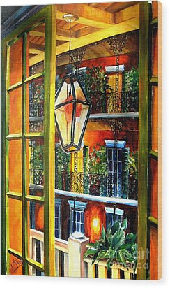 View From A French Quarter Balcony Wood Print by Diane Millsap