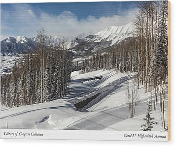 View From A Mountain Above Telluride In Colorado Wood Print by Carol M Highsmith