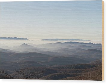 View From Blood Mountain Wood Print