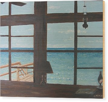 View From Blue House II Wood Print by John Terry