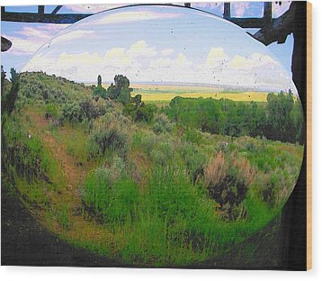 View From Cabin Window Wood Print by Lenore Senior