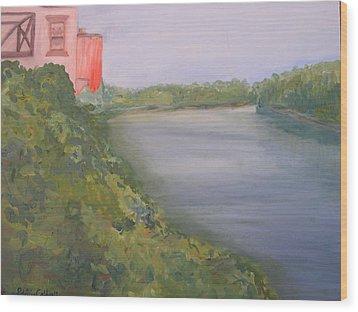 View From Edmund Pettus Bridge Wood Print by Patricia Caldwell