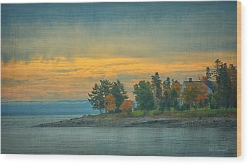 View From La Malbaie Wood Print by CR  Courson