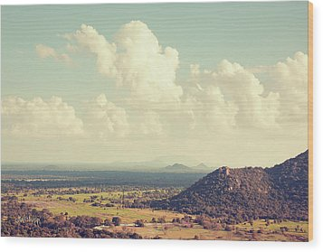 View From Mihintale Wood Print by Joseph Westrupp