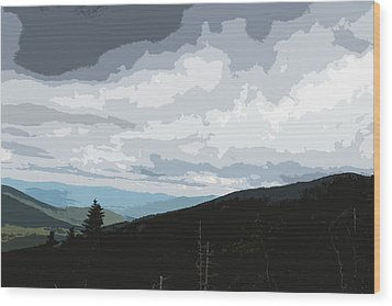 View From Mount Washington II Wood Print by Suzanne Gaff