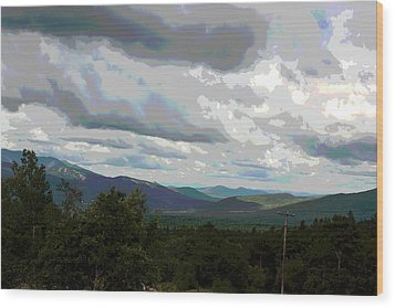 Wood Print featuring the photograph View From Mount Washington IIi by Suzanne Gaff