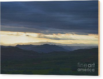 View From Palomar 9633 Wood Print by Sharon Soberon