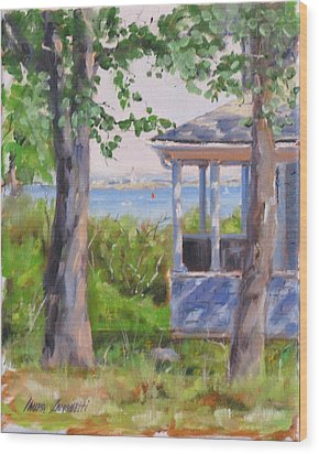 View From Pointe Allerton Wood Print by Laura Lee Zanghetti