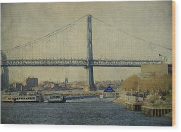 View From The Battleship Wood Print by Trish Tritz