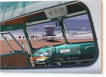 View From The Bus Wood Print by Ron Regalado