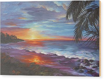 Wood Print featuring the painting View From The Hammock  by Dina Dargo