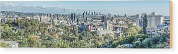 View From The Hollywood Hills Wood Print by Ike Krieger