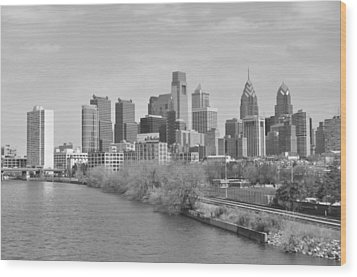 View From The New S.st. Bridge Wood Print by Brynn Ditsche