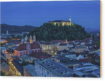 Wood Print featuring the photograph View From The Skyscraper #2 - Slovenia by Stuart Litoff