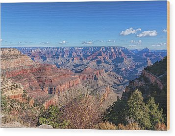 Wood Print featuring the photograph View From The South Rim by John M Bailey