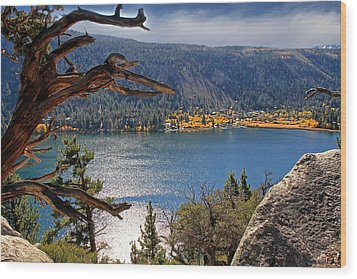 Wood Print featuring the photograph View From The Top Of June Lake by Donna Kennedy
