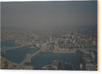View From The  W T C  Wood Print by Rob Hans